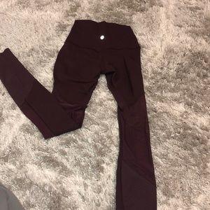 Lululemon burgundy leggings